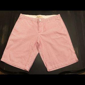 U.S. Polo Assn pink/white striped shorts